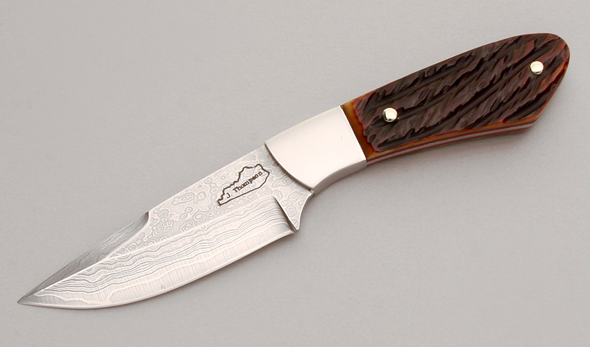 Jim Thompson Damascus Drop Point Skinner